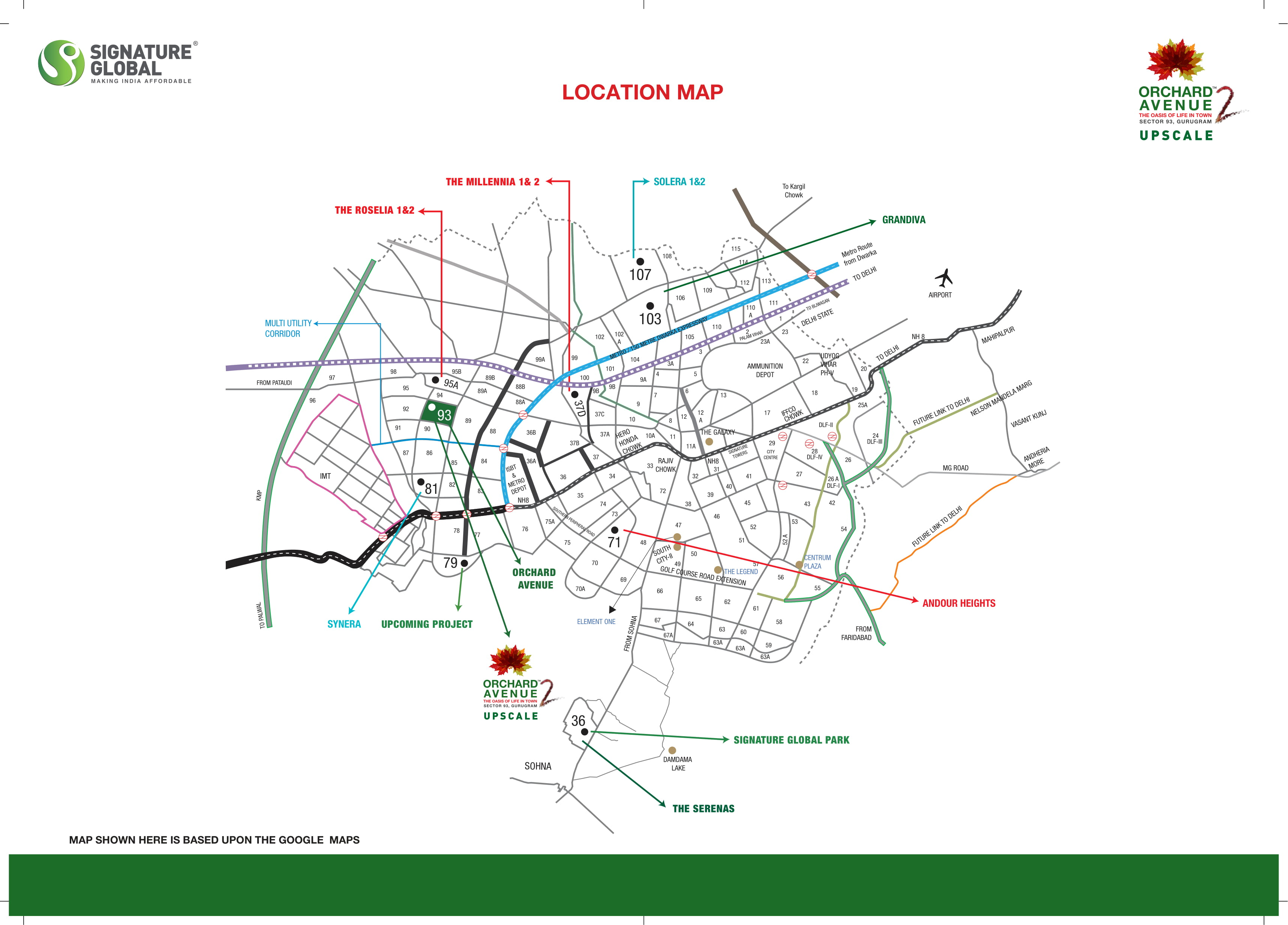 Signature-Global-Orchard-Avenue-2-Location-Map