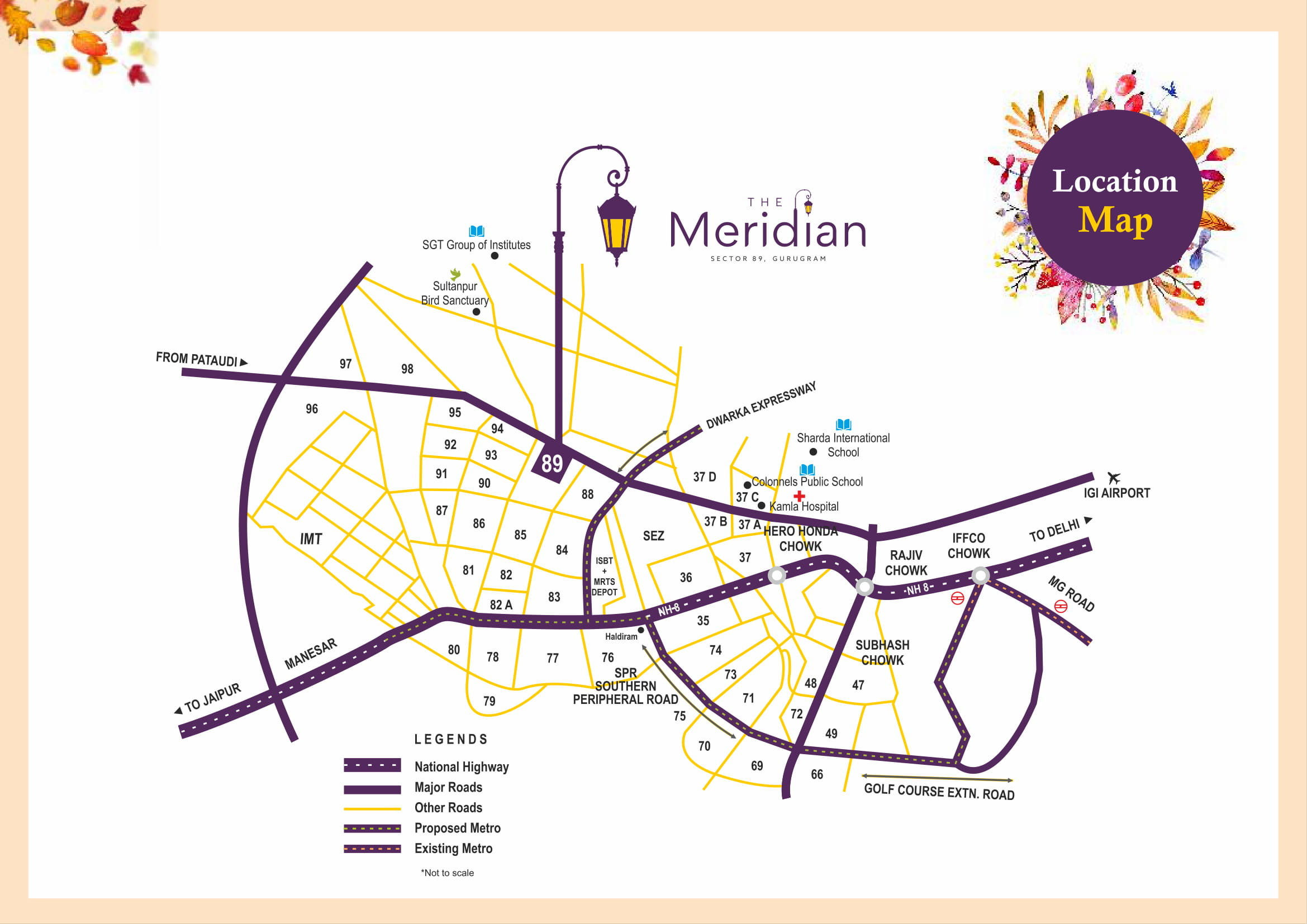 MRG World The Meridian Location Map