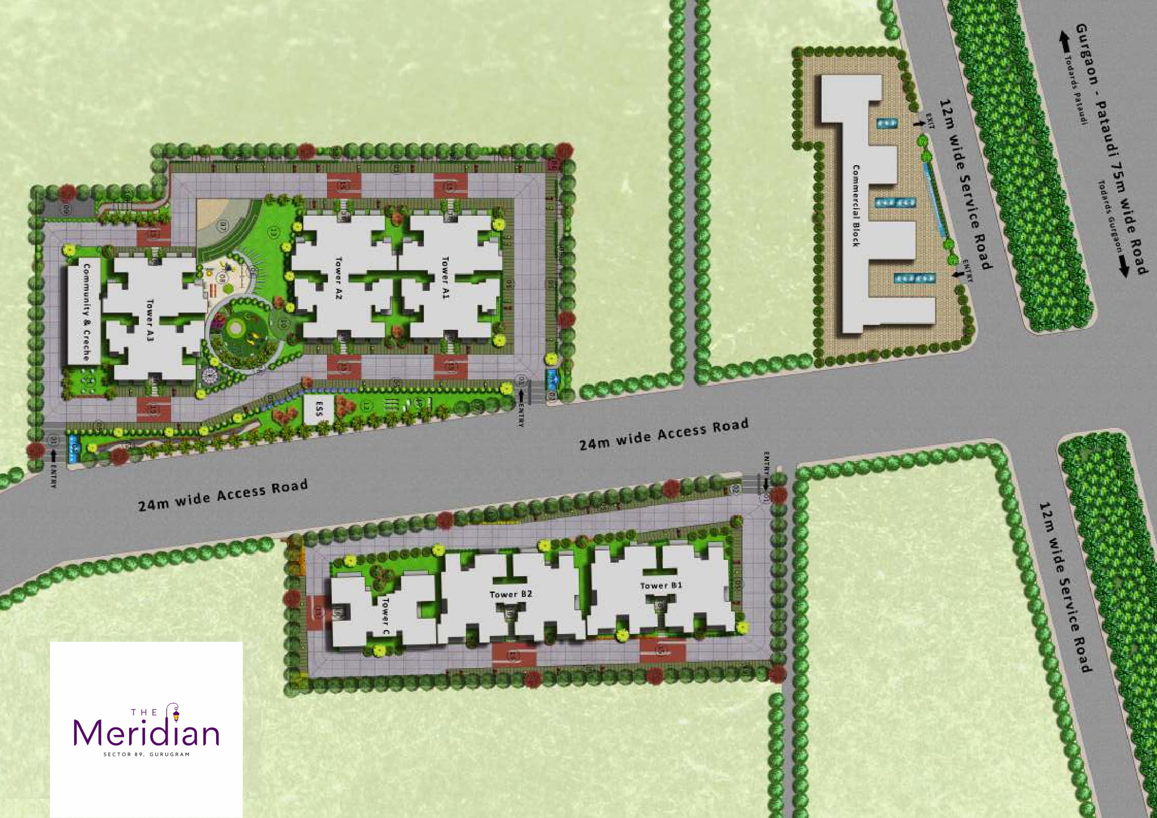 MRG World The Meridian Site Plan