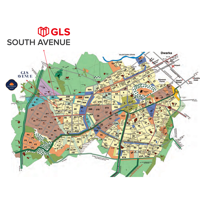 GLS-South-Avenue-Location-Map